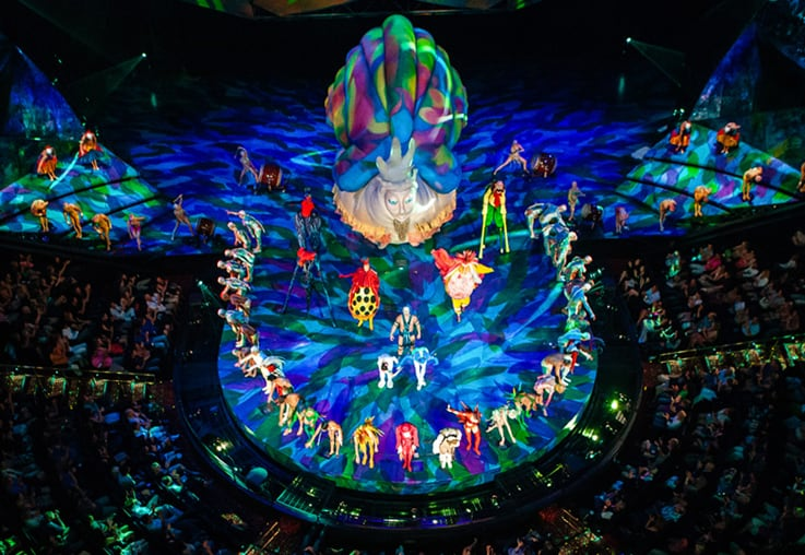 Mystere, the first permanent Cirque du Soleil show in Las Vegas