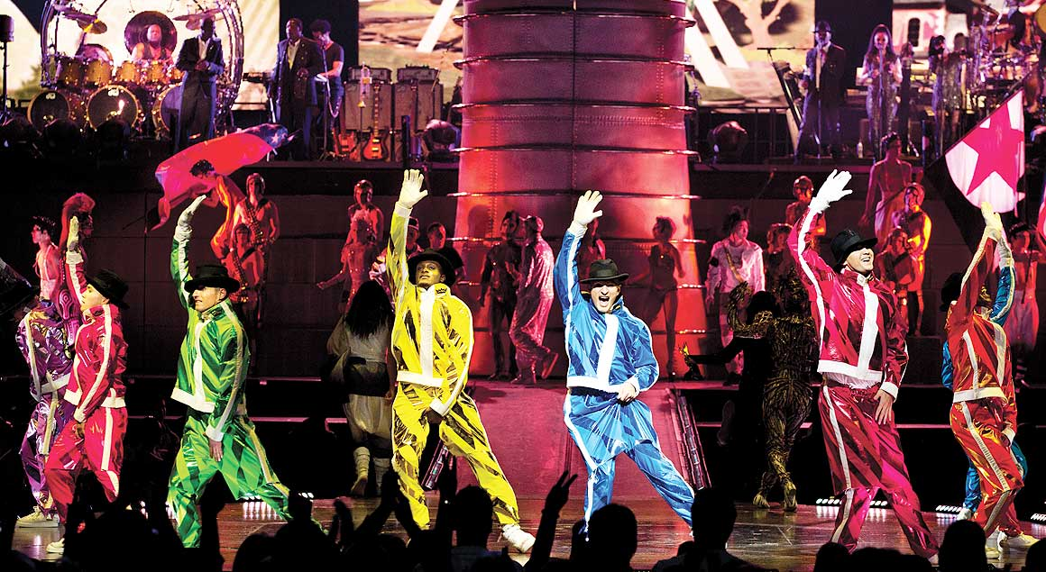 Dancers from Michael Jackson THE IMMORTAL by Cirque du Soleil