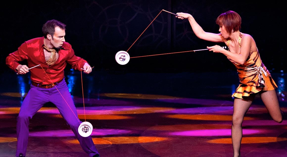 The diabolo act from Viva Elvis by Cirque du Soleil