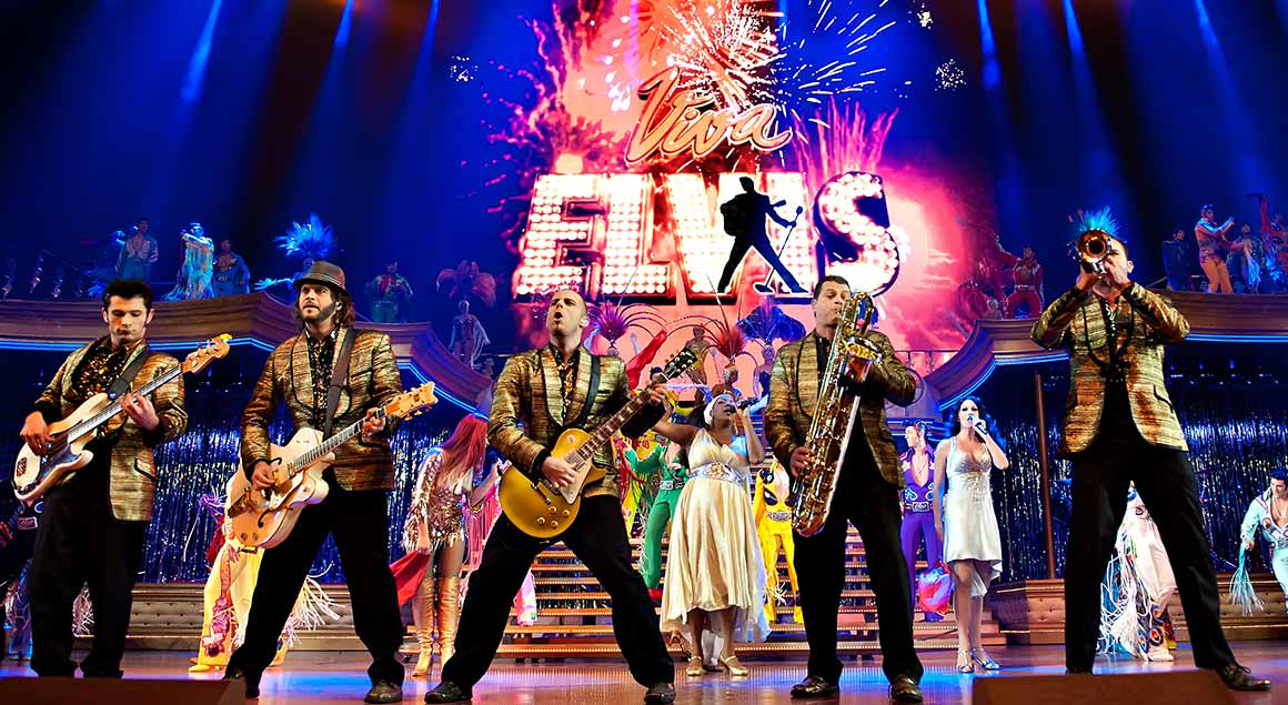 The music band from Viva Elvis by Cirque du Soleil