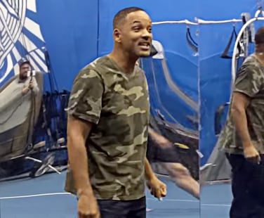 Will Smith at O by Cirque du Soleil