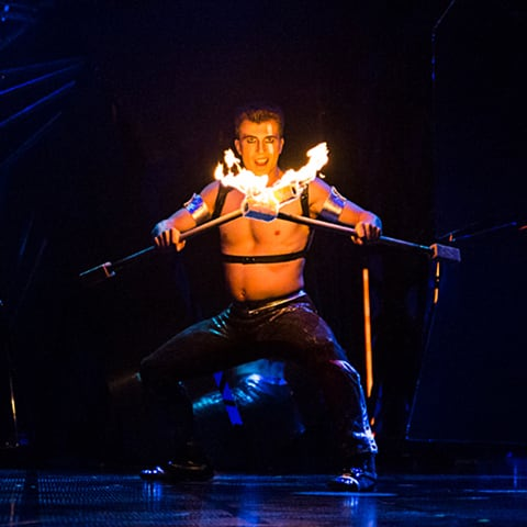 Fire number from Bazzar, Cirque du Soleil