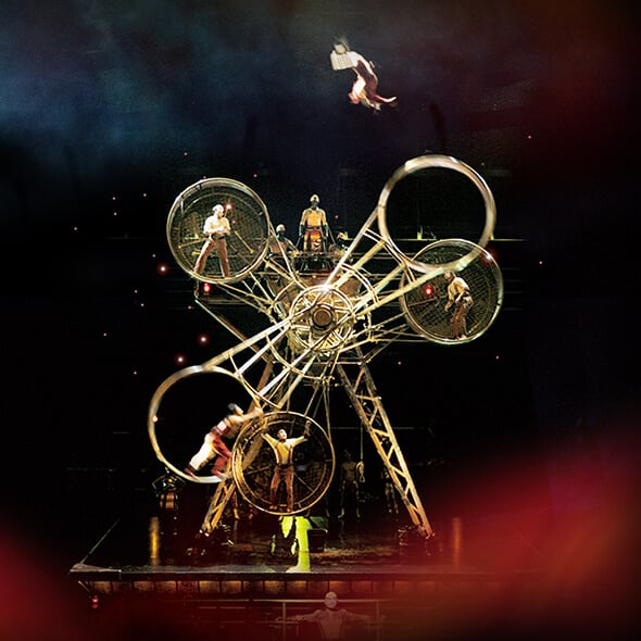 The Wheel of Death act from the show KÀ