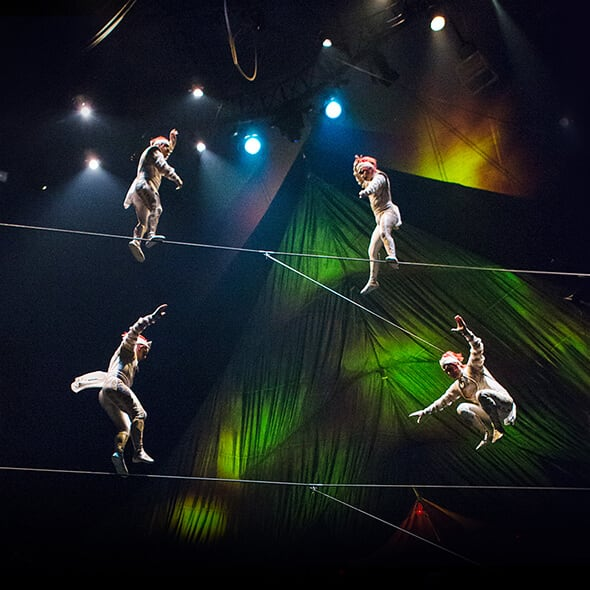 The Double Highwire act from KOOZA
