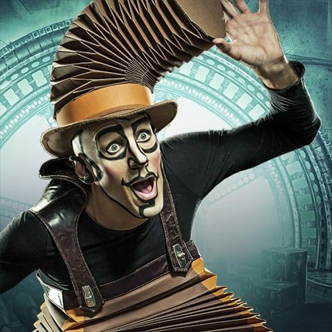 Nico, the accordion man from the show KURIOS