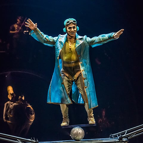The Rola Bola act from the show KURIOS