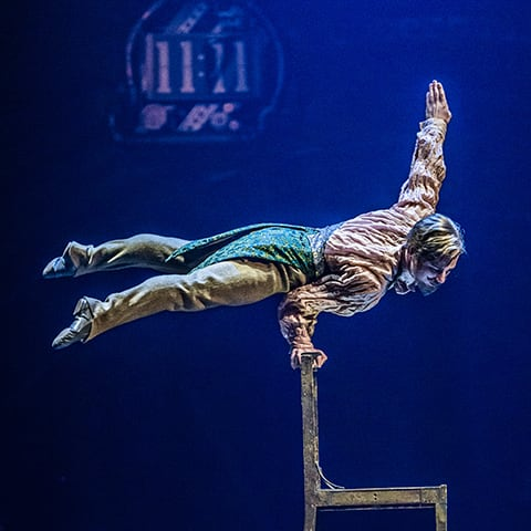 The Upside Down World act from the show KURIOS