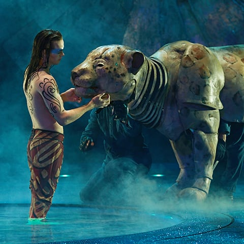 A surrealistic animal that can be seen in the show LUZIA