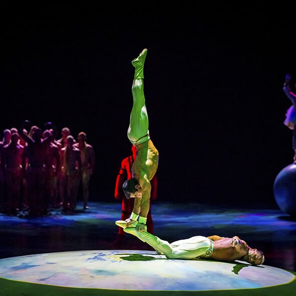 The Hand-to-Hand act from Mystère