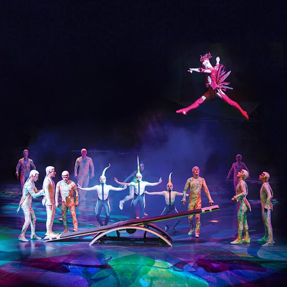 The Trampoline act from Mystère