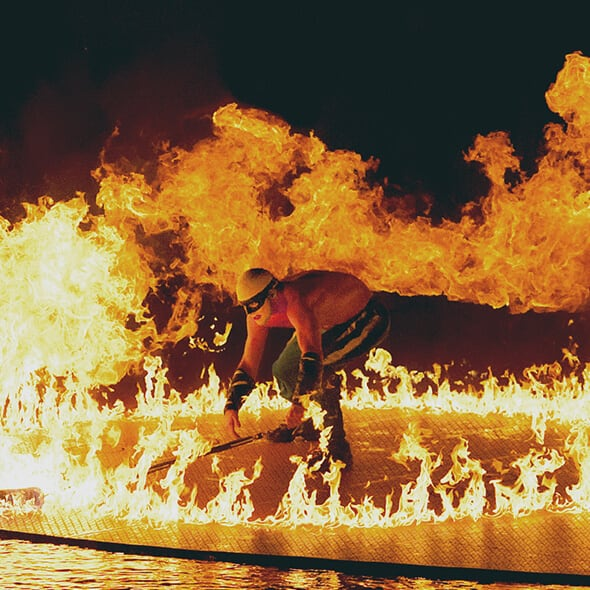 "The Fire act from ""O"""