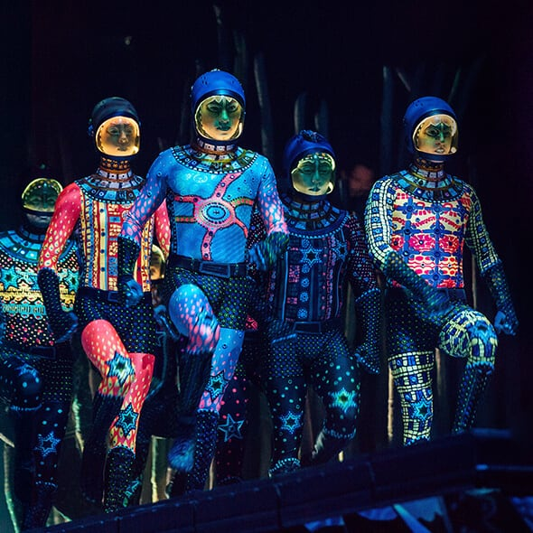 The Russian Bars act from TOTEM performed by the Cosmonauts