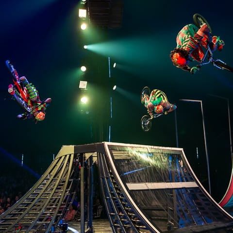 The BMX act from the show VOLTA