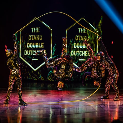 The Rope Skipping act from the show VOLTA
